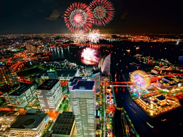横浜開港祭花火大会2018 穴場実際行った6選 日程と時間打ち上げ場所はここ!