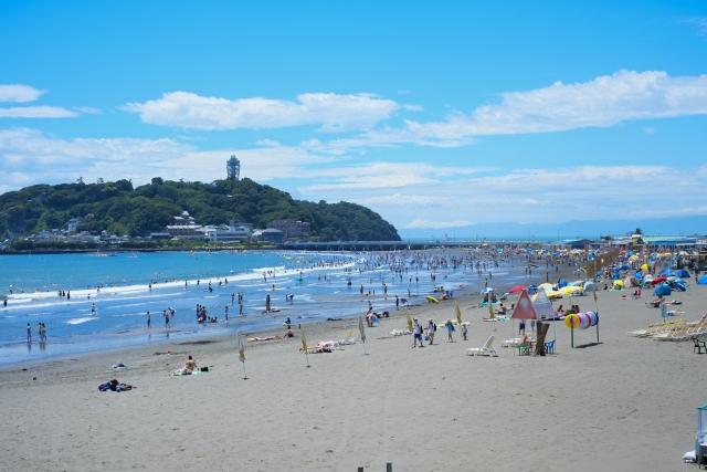 江ノ島2018海水浴の海開き期間はいつまで?クラゲが出る時期は?